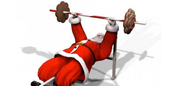 Santa at the gym