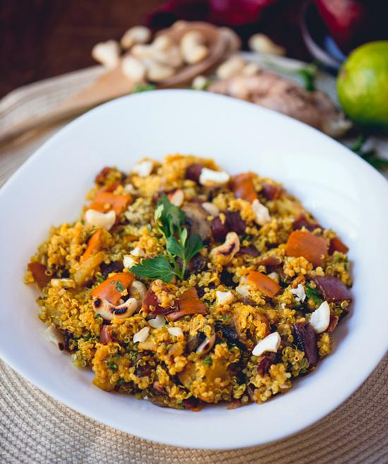 Winter Squash & Quinoa with Curry Lime Vinaigrette