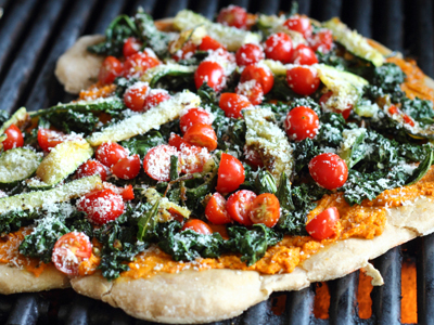 Carrot and Kale Farm Pizza