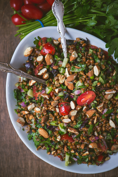 Toasted Wheat Berry and Summer Herb Salad