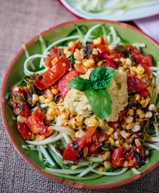 Zucchini Noodles with Fresh Summer Sauce