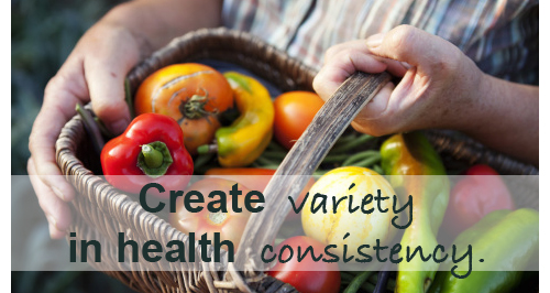 Variety meets consistency, health