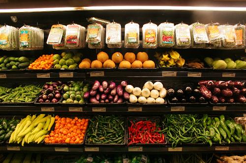 Perimeter of grocery store
