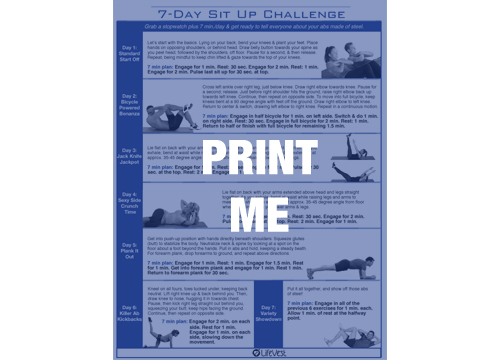 7-Day Sit Up Challenge